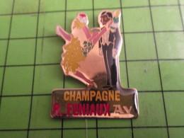 512i Pins Pin's / Rare & De Belle Qualité  THEME : BOISSONS / COUPLE DE FETARDS CHAMPAGNE R FURNIAUX A AY - Beverages