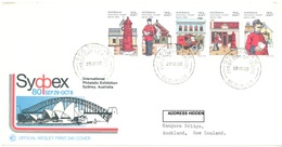 AUSTRALIA  - FDC WESLEY - 29.9.1980 - SYDPEX  - Yv 713-717 - Lot 18685 - Premiers Jours (FDC)