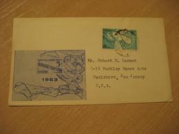 PORT-AU-PRINCE 1963 To Paulsboro USA Alphabetisation Faim Stamp Cancel Cover HAITI - Haïti