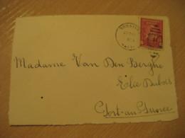GONAIVES 1954 ? To Port-au-Prince Dessalines Stamp Cancel Frontal Front Cover HAITI - Haïti