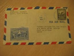 JEREMIE 1951 To Port-au-Prince Capois-la-Mort Bicentennial Stamp Frontal Front Cover HAITI Greater Antilles West Indies - Haïti