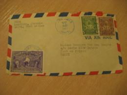 JEREMIE 1951 To Port-au-Prince Dessalines Bicentennial Stamp Frontal Front Cover HAITI Greater Antilles West Indies - Haïti