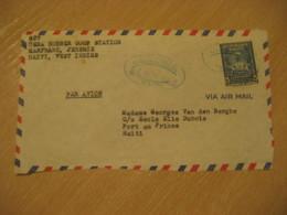 JEREMIE 1952 To Port-au-Prince Dessalines Stamp Cancel Frontal Front Cover HAITI Greater Antilles West Indies - Haïti