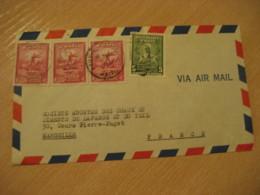 PORT-AU-PRINCE 1951 To Marseille France Capois-La-Mort Stamp Air Mail Cover HAITI Greater Antilles West Indies - Haïti