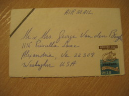 1972 To Alexandria USA 3 Stamp DUEL CONDOLENCE Cancel Air Mail Cover HAITI Antilles West Indies - Haïti