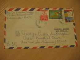 PORT-AU-PRINCE 1970 To Annandale USA 3 Stamp Cancel Air Mail Cover HAITI Antilles West Indies - Haïti