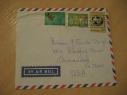 PORT-AU-PRINCE 1971 To Annandale USA Coupe Jules Rimet Football Stamp Cancel Air Mail Cover HAITI Antilles West Indies - Haïti