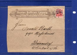 ##(ROYBOX1)-Germany 1909- Gustav Suffrian, Leipzig Commercial Cover - Agricoltura