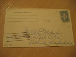 1956 To Bethesda USA St. Pius V FDC Cancel Cover PANAMA - Panama