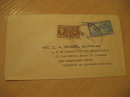 Panama 1951 To Toronto Canada Fight Against Cancer Stamp Cancel Cover PANAMA - Panama