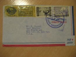 Panama Justo Arosamena 1959 To New York USA CIA Atlas SA Stamp Cancel Air Mail Cover PANAMA - Panama