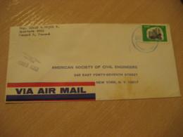 Panama 1969 To New York USA Stamp Cancel Air Mail Cover PANAMA - Panama