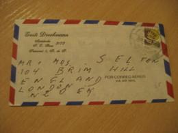 Panama 1998 To London England Stamp Cancel Air Mail Cover PANAMA - Panama