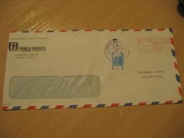 COLON 1975 Stamp Cancel Meter Air Mail Cover PANAMA - Panama