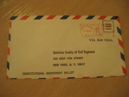 Panama 1948 To New York USA Ballot Cancel Meter Air Mail Cover PANAMA - Panama