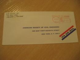 Panama 1970 To New York USA Cancel Meter Air Mail Cover PANAMA - Panama