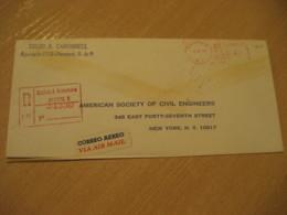 Panama 1969 To New York USA Registered Cancel Meter Air Mail Cover PANAMA - Panama