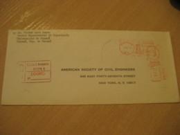 Panama 1970 To New York USA Registered Cancel Meter Air Mail Cover PANAMA - Panama