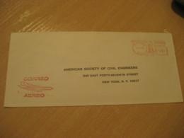 Panama 1971 To New York USA Cancel Meter Air Mail Cover PANAMA - Panama