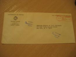 Universidad De Panama 1971 To New York USA University Cancel Meter Air Mail Cover PANAMA - Panama