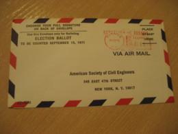 Panama 1971 To New York USA Ballot Cancel Meter Air Mail Cover PANAMA - Panama