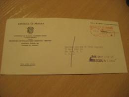Panama Ministerio De  Trabajo 1968 To New York USA Cancel Meter Air Mail Cover PANAMA - Panama