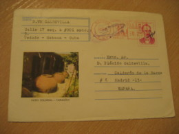 Panama 1978 To Madrid Spain Cancel Meter Air Mail Postal Stationery Cover PANAMA - Panama