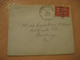 EDDYSTONE 1915 To Reading USA Panama Canal Zone Stamp Cancel Cover PANAMA CANAL ZONE C.Z. CZ - Panama