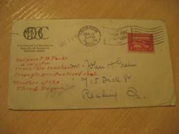 BOSTON 1914 To Reading USA Panama Canal Zone Stamp Cancel Cover PANAMA CANAL ZONE C.Z. CZ - Panama
