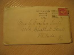 REDLANDS 1916 To Philada USA Panama Canal Zone Cancel Stamp Cover PANAMA CANAL ZONE C.Z. CZ - Panama