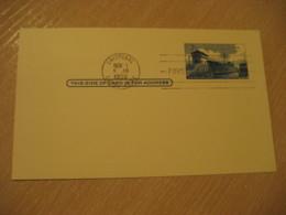CRISTOBAL 1958 FDC Panama Canal Lock 3c Postal Card Postal Stationery Card PANAMA CANAL ZONE C.Z. CZ USA - Panama