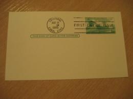 CRISTOBAL 1965 FDC Panama Canal Lock 4c Postal Card Postal Stationery Card PANAMA CANAL ZONE C.Z. CZ USA - Panama