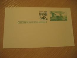 Panama Canal Lock 1c Overprinted 4c Postal Card Postal Stationery Card PANAMA CANAL ZONE C.Z. CZ USA - Panama