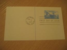 BALBOA 1969 FDC Panama Canal Lock 5c Postal Card Postal Stationery Card PANAMA CANAL ZONE C.Z. CZ USA - Panama