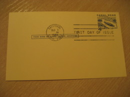 CRISTOBAL 1964 FDC 4c Postal Card Postal Stationery Card PANAMA CANAL ZONE C.Z. CZ USA - Panama