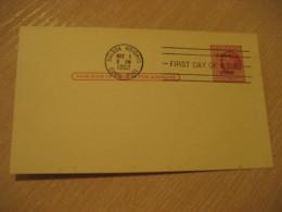 BALBOA HEIGHTS 1952 FDC CANAL ZONE Overprinted 2c Postal Card Postal Stationery Card PANAMA CANAL ZONE C.Z. CZ USA - Panama