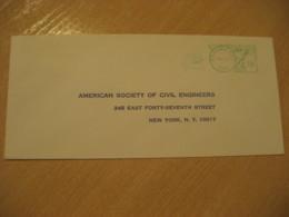 Panama CITY 197? To New York USA Cancel Meter Mail Cover PANAMA CANAL ZONE C.Z. CZ USA - Panama