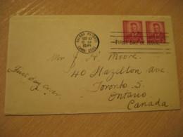 BALBOA HEIGHTS 1949 To Toronto Canada Theodore Roosevelt FDC Cancel Cover PANAMA CANAL ZONE C.Z. CZ USA - Panama