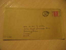 CRISTOBAL 1930 To Downingtown USA Stamp Cancel Cover PANAMA CANAL ZONE C.Z. CZ USA - Panama
