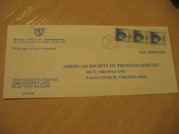 BALBOA 1979 To Falls Church USA Stamp Cancel Air Mail Cover PANAMA CANAL ZONE C.Z. CZ USA - Panama