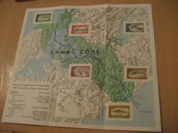 BALBOA 1964 FDC Document Yvert Air 34/9 Set Stamp Golden Anniversary PANAMA CANAL ZONE C.Z. CZ USA - Panama