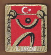 AC -  TURKISH WEIGHTLIFTING FEDERATION PROVINCE REFEREE PATCH - Ecussons Tissu