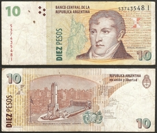 ARGENTINA - 10 Pesos ND (1998-2003) P# 348 America Banknote - Edelweiss Coins - Argentina
