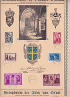 HERDENKINGSBLAD/FEUILLET SOUVENIR ABDIJ VAN/DE ORVAL Met518 Variteit - Cartes Souvenir