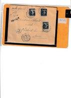 Lettre Chargé De Paris à Chalons S/Marne De 1909 Cachet 32 Dans Un Cercle. - Postmark Collection (Covers)