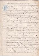 EXTRAIT De GREFFE De TRIBUNAL - GUERET (Creuse)  - 9 MAI 1878  - 3 Pages - Cachets Généralité