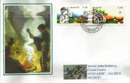 BRESIL. Jamboree Pan-Americano.Interamerican Scout Jamboree.Porto-Alegre.,lettre Envoyée Au Mexique - Scoutisme