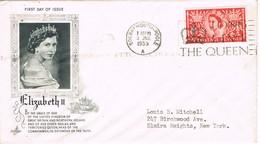 30783. Carta BOURNEMOUTH - POOLE (England) 1953. Elisabeth II - Covers & Documents