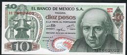 MEXICO P63h 10 PESOS 1975.   UNC. - Mexico