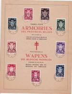 HERDENKINGSBLAD/FEUILLET SOUVENIR 9 ROVINCIE/PROVENCE BELGIE/BELGIQUE - Cartes Souvenir